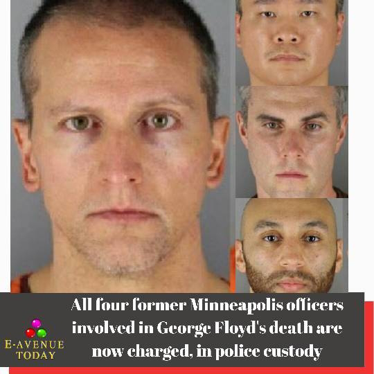 All four former Minneapolis officers involved in George Floyd's death are now charged, in Custody