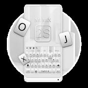 Silver Keyboard For Mi MIX 2S APK for Bluestacks