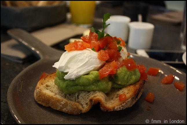 Poached Eggs and Smashed Avocado at Darwin Brasserie