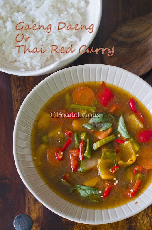 Foodelicious- Thai Red Curry