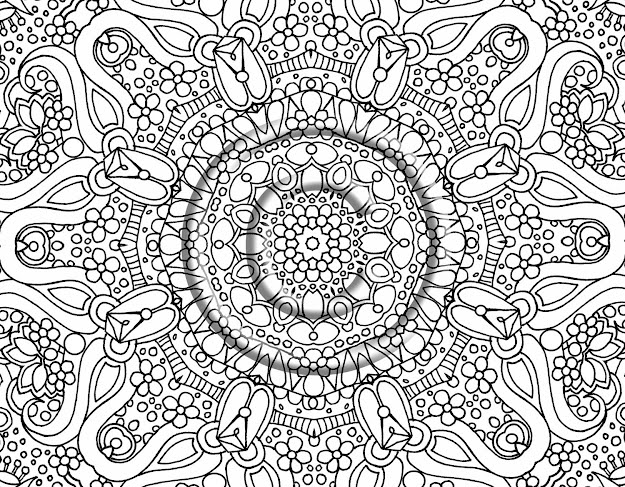 Coloring Pages Of Flowers For Teenagers Difficult Zomunggah