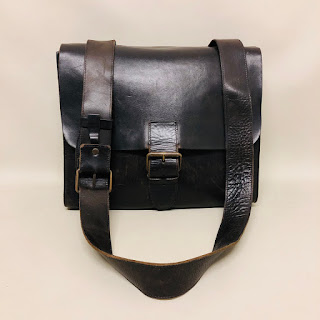 John Varvatos Leather Messenger Bag