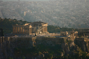 View of the Acropolis from Lycabettus Hill, Athens