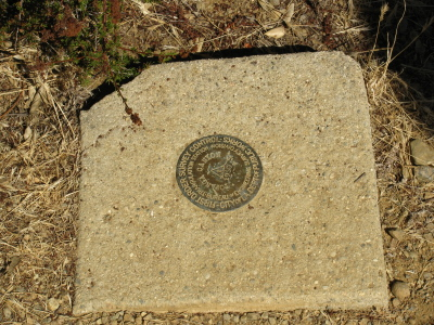 Topanga Canyon marked marker, set 1950