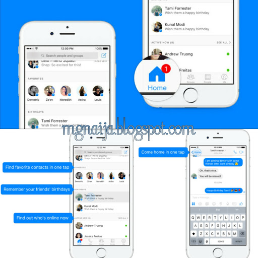 Check The New Design For Facebook Messenger On Smartphone