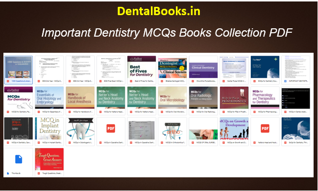 Important Dentistry MCQs Books Collection PDF