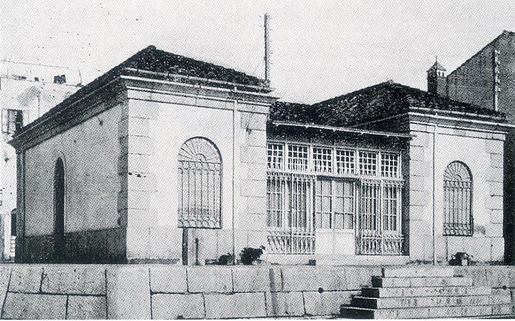 1934. Aspecto del edificio de la luz del puerto de Vinaros, ya modificado. Del libro Faros Españoles del Mediterraneo.jpg