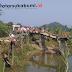 Jembatan Nyaris Ambruk, Jembatan Sementara Caringin Dibangun