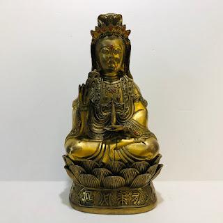 Large Brass Buddha Statue