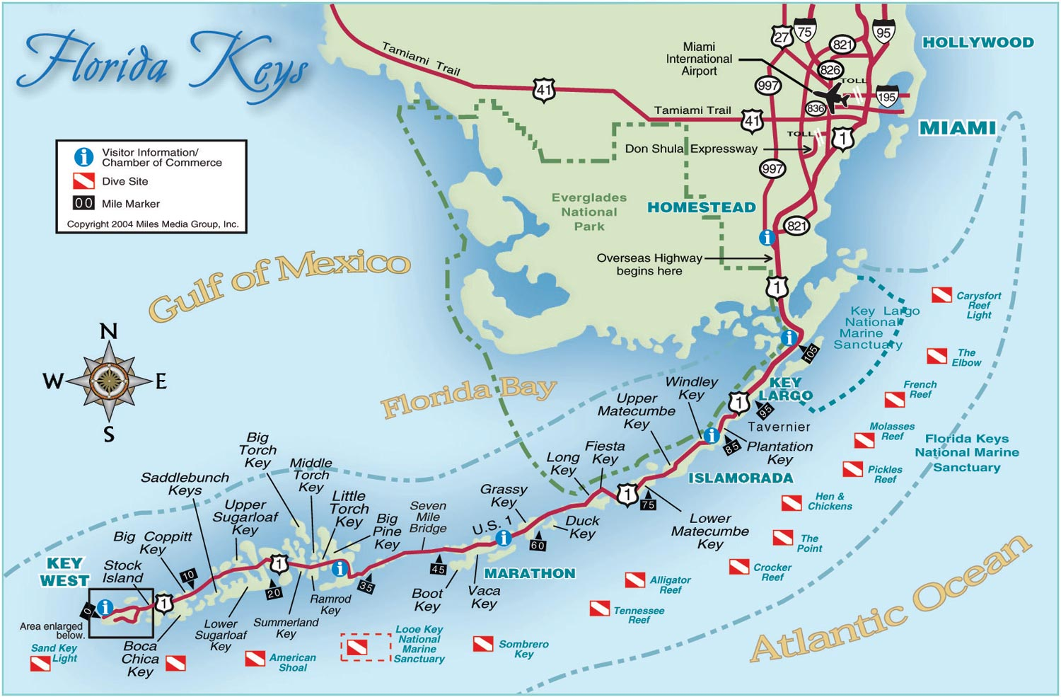 florida map florida keys