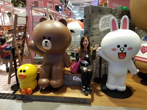Hello with Brown, Cony and Sally at Line Friends Store Breeze Taipei