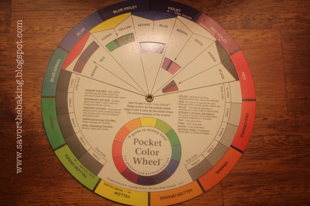 savor the baking how to use the color wheel in cake
