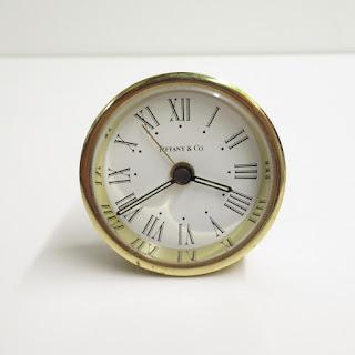 Tiffany & Co. Brass Travel Alarm Clock