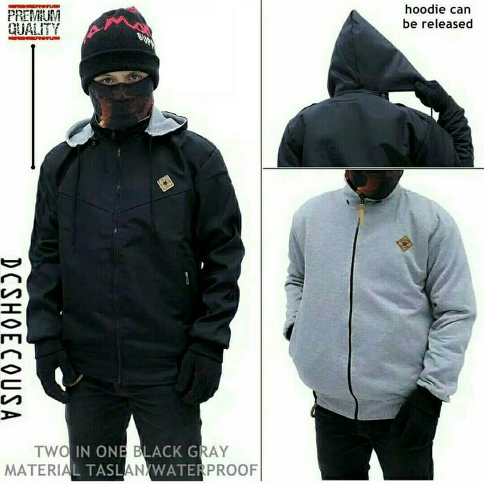 JAKET BB DC BLACK GREY