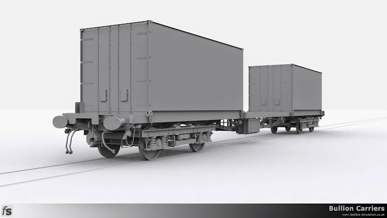 Fastline Simulation - Bullion Carriers: Completed NLA Bullion Flat carrying two containers.