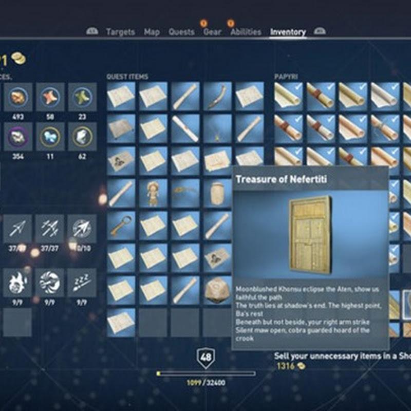 Assassin's Creed Origins – Fundort des Schatzes von Nefertiti & Lösung des Rätsels (Guide)
