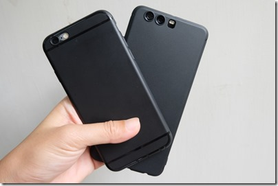 Black silicone cases for iPhone 6s and Huawei P10 Plus