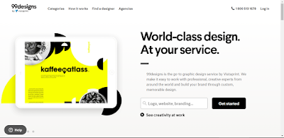 Situs 99designs cocok untuk freelancer desainer grafis
