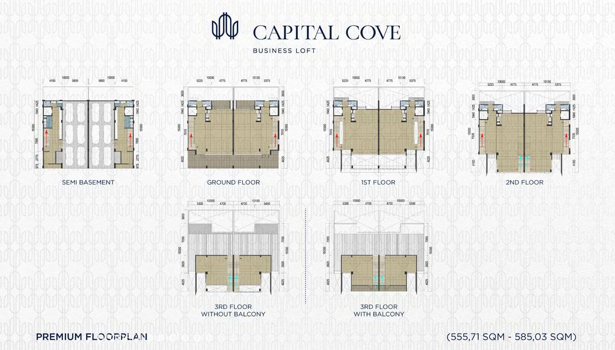 Denah Capital Cove Business Loft - Premium