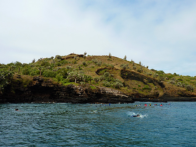 Snorkelers around Champion Island