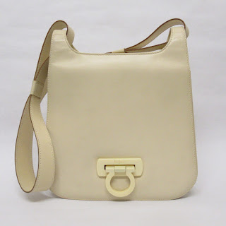 Salvatore Ferragamo Cream Shoulder Bag