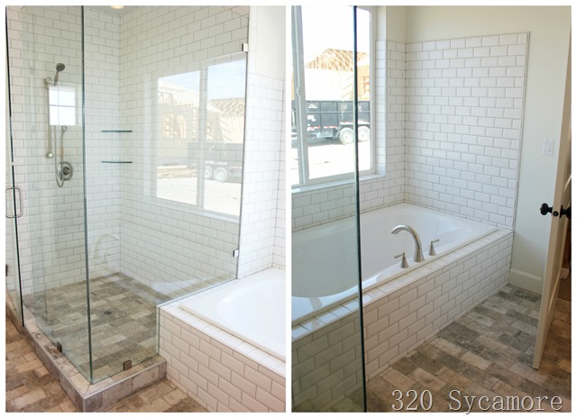 fixer upper master shower tub