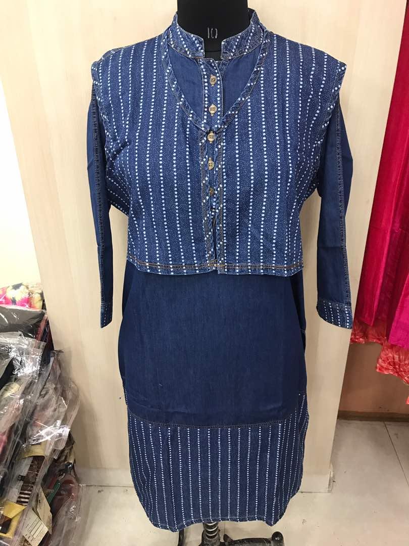 Bt Denim Jacket Kurti Rs 1500 Koyal Fashions Kurtis And Gowns