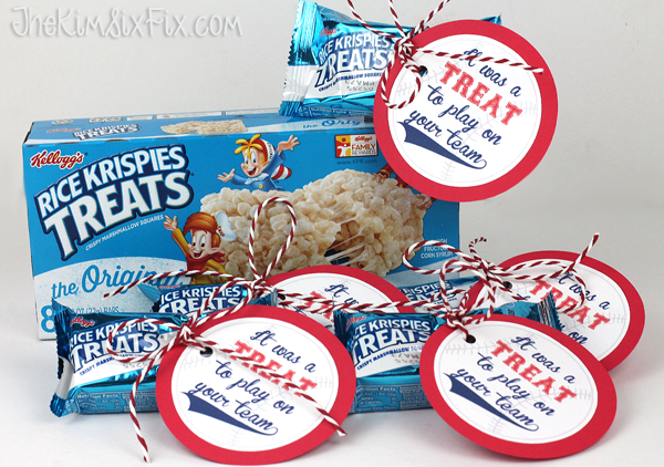 Rice Krispie team softball treats