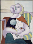 Pablo Picasso: Olvasó nő, 1932 olaj, vászon, 130 x 97,5 cm (Fotó: Musée national Picasso-Párizs  Pablo Picasso hagyaték, 1979. MP137 © RMN-Grand Palais (Musée national Picasso-Paris)/René-Gabriel Ojéda ©2016 – Succession Pablo Picasso – HUNGART)