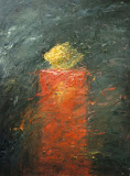 piedestael / huile toile / 40x60 / 1995