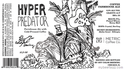 heres a new brew coming from chicagos off color brewing this is hyper predator and it is a farmhouse ale brewed with cold pressed metric coffee co coffee - Off Color Cartoons