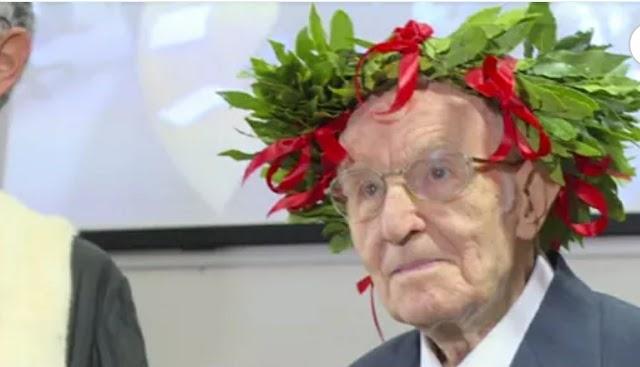 Laureato a 96 anni con 110 e lode: la storia di Giuseppe Paternò