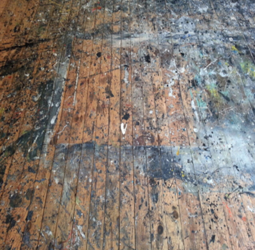 Jackson Pollock studio floor is a work of art