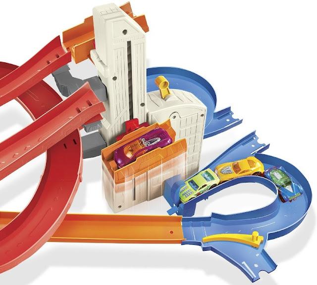 Mô hình Thành phố Đường đua Hot Wheels City Auto Lift Expressway thú vị bổ ích