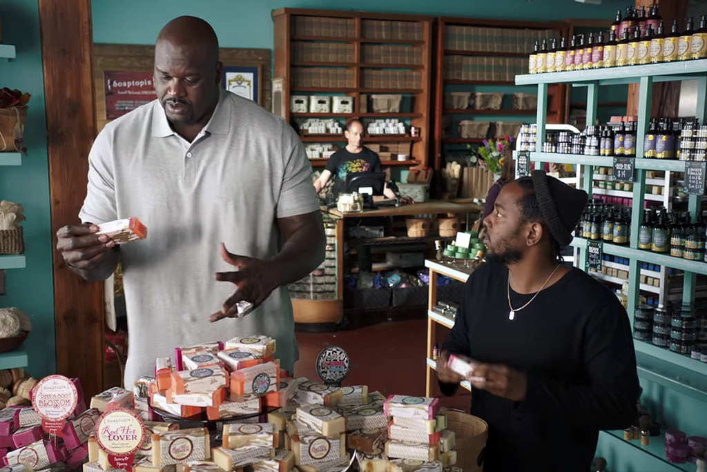 Watch Shaq & Kendrick Lamar Go Soap Shopping in these 3 Hilarious American Express Commercials