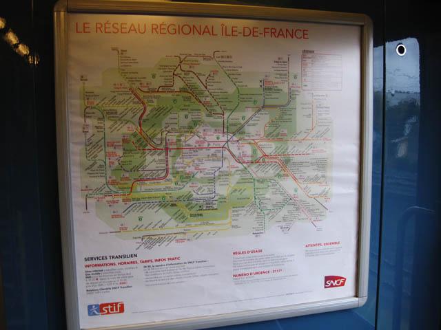 パリ電車路線図