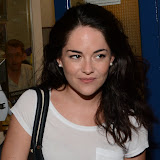 WWW.ENTSIMAGES.COM -      Sarah Greene leaving  Noel Coward Theatre in her last week performance  The cripple of  inishmaan August 27th 2013                                          Photo Mobis Photos/OIC 0203 174 1069