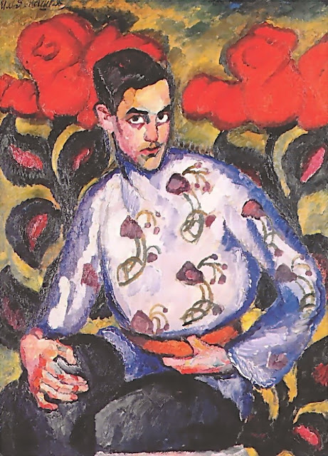 Ilya Mashkov - Portrait of a Boy in a Coloured Shirt