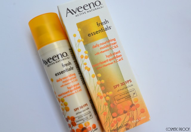 Aveeno Fresh Essentials Nourishing Moisturizer SPF 30 Review