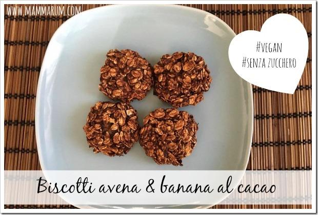 biscotti banana avena cacao