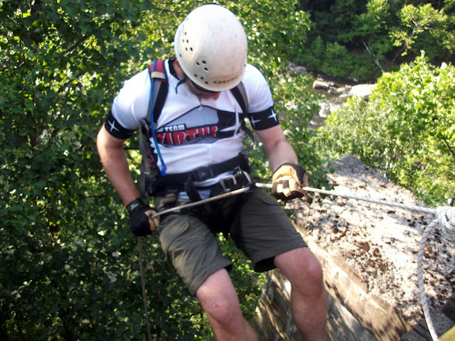 Adam Rappelling at Lionheart