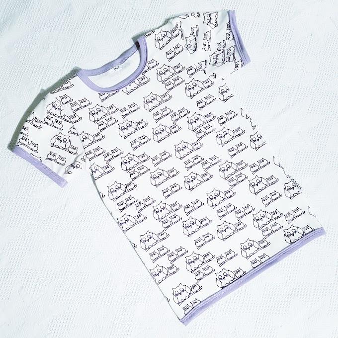 Ugle-t-skjorte str 116/122