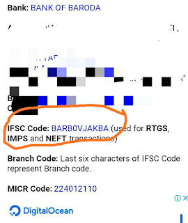 Online bank Ifsc code