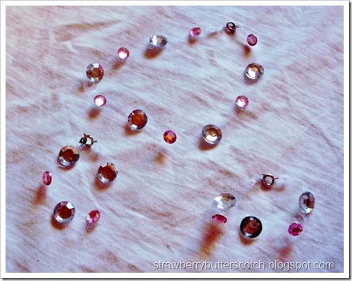 Tulle and rhinestone jewelry.