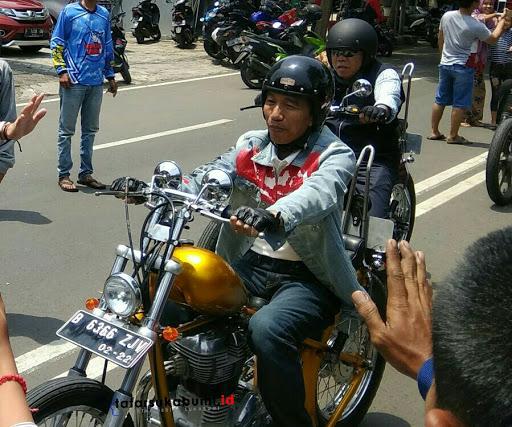 Jokowi Tunggangi Moge di Sukabumi Hasil Modifikasi Elders Garage
