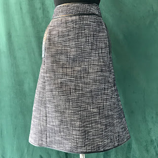 Bottega Veneta Black and White Tweed Skirt