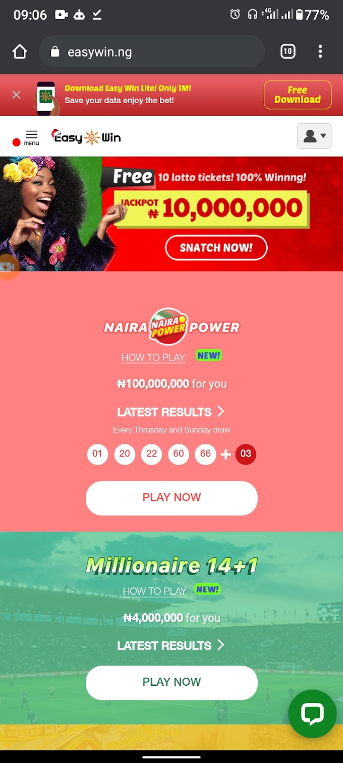 How to earn up to ₦500.00 daily on EASY WIN