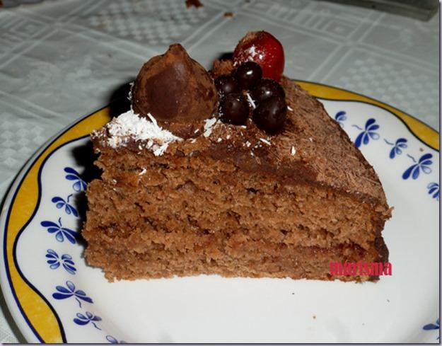tarta de chocolate y manzana,racion copia