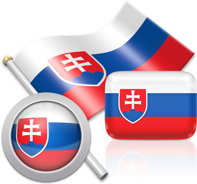 Slovak flag icons pictures collection