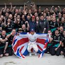 Lewis Hamilton and Mercedes team celebration